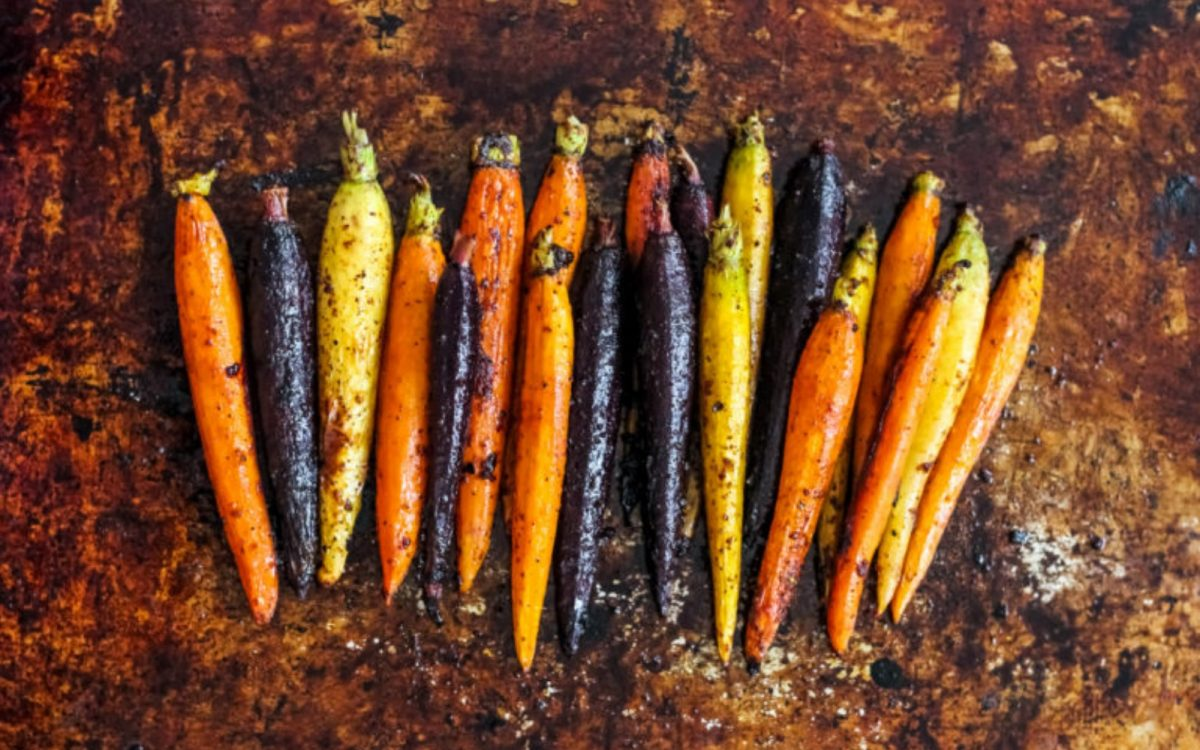 Vegan Maple Roasted Carrots