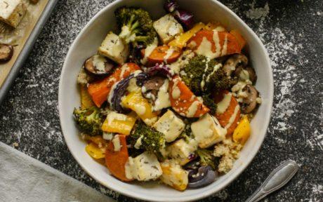 roasted Tofu and veggies