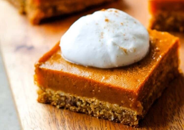 Vegan Pumpkin Pie Bars