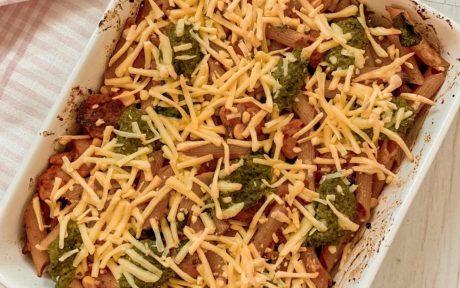sausage pesto pasta bake