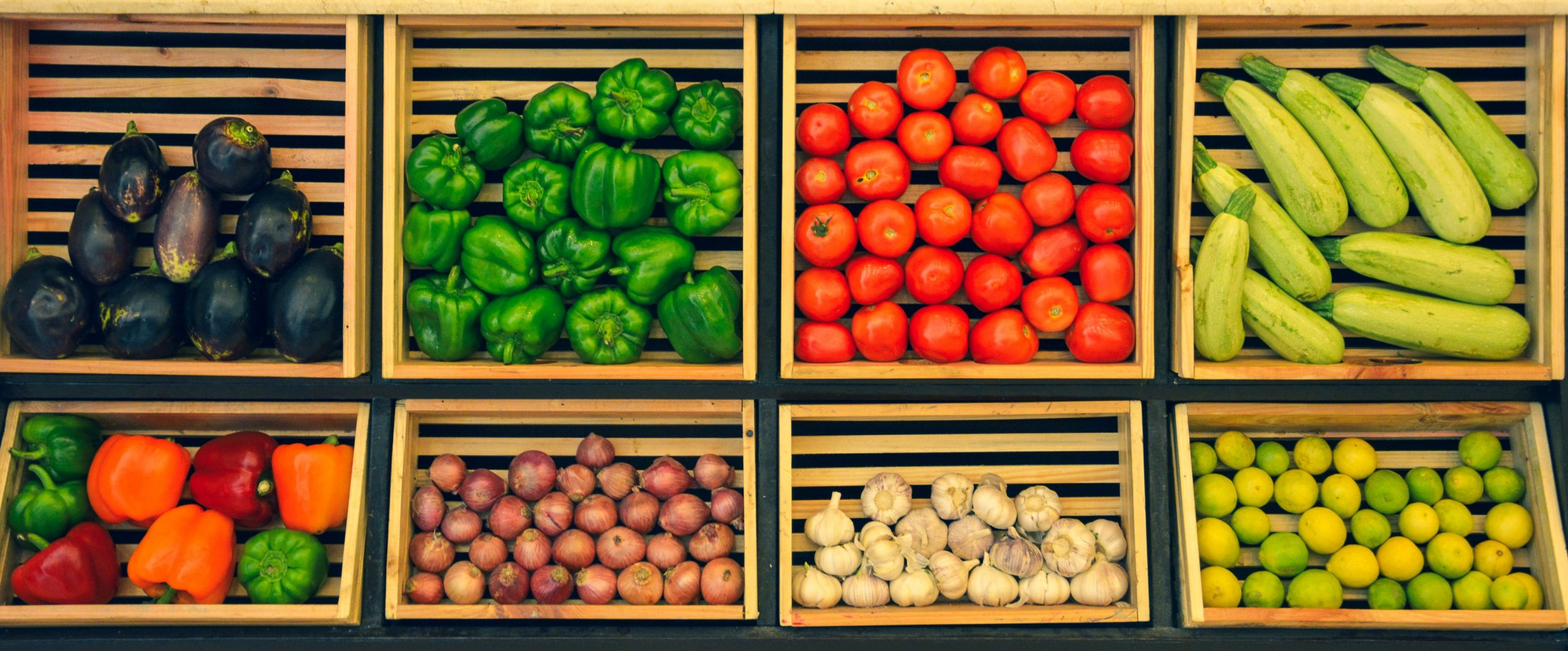 Fruits and Vegetables in Crates