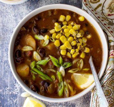 vegan black bean veggie soup