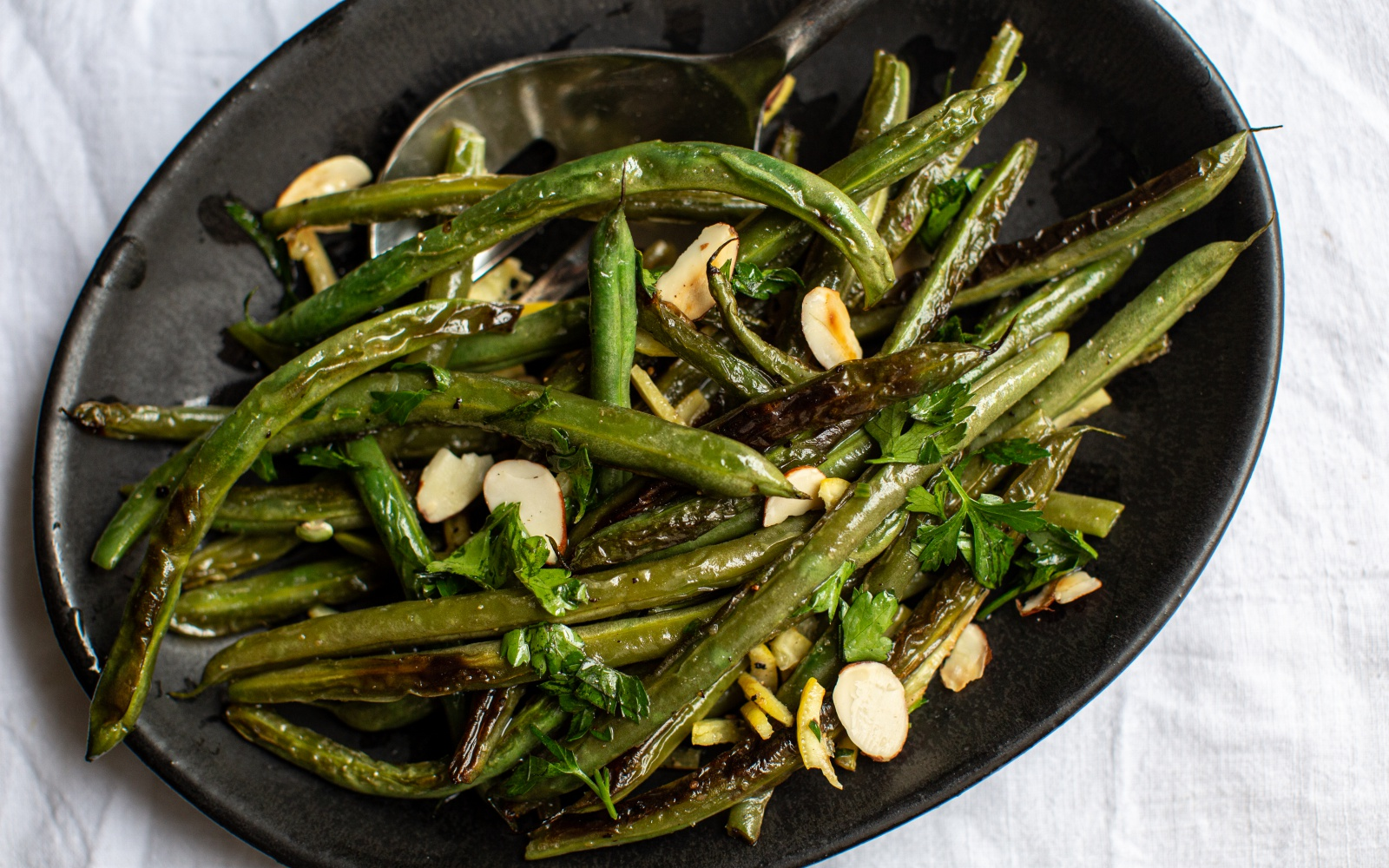 Blistered Green Beans with Preserved Lemon and Parsley