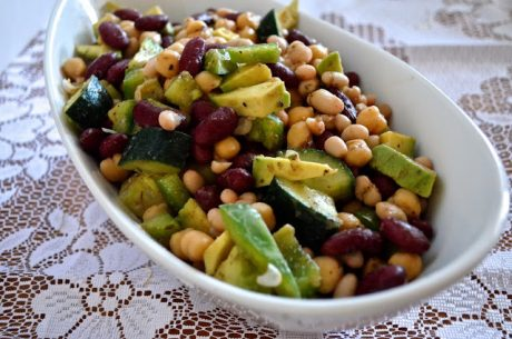 bean salad with avocado