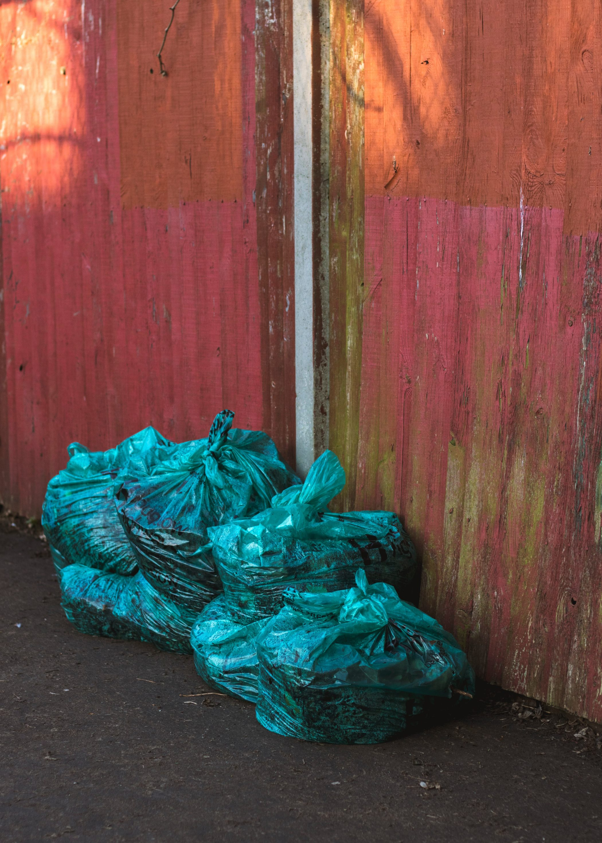 Trash Bags Waiting for Collection