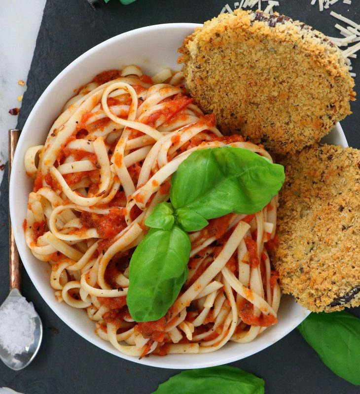 Vegan Oven Baked Eggplant Parmesan