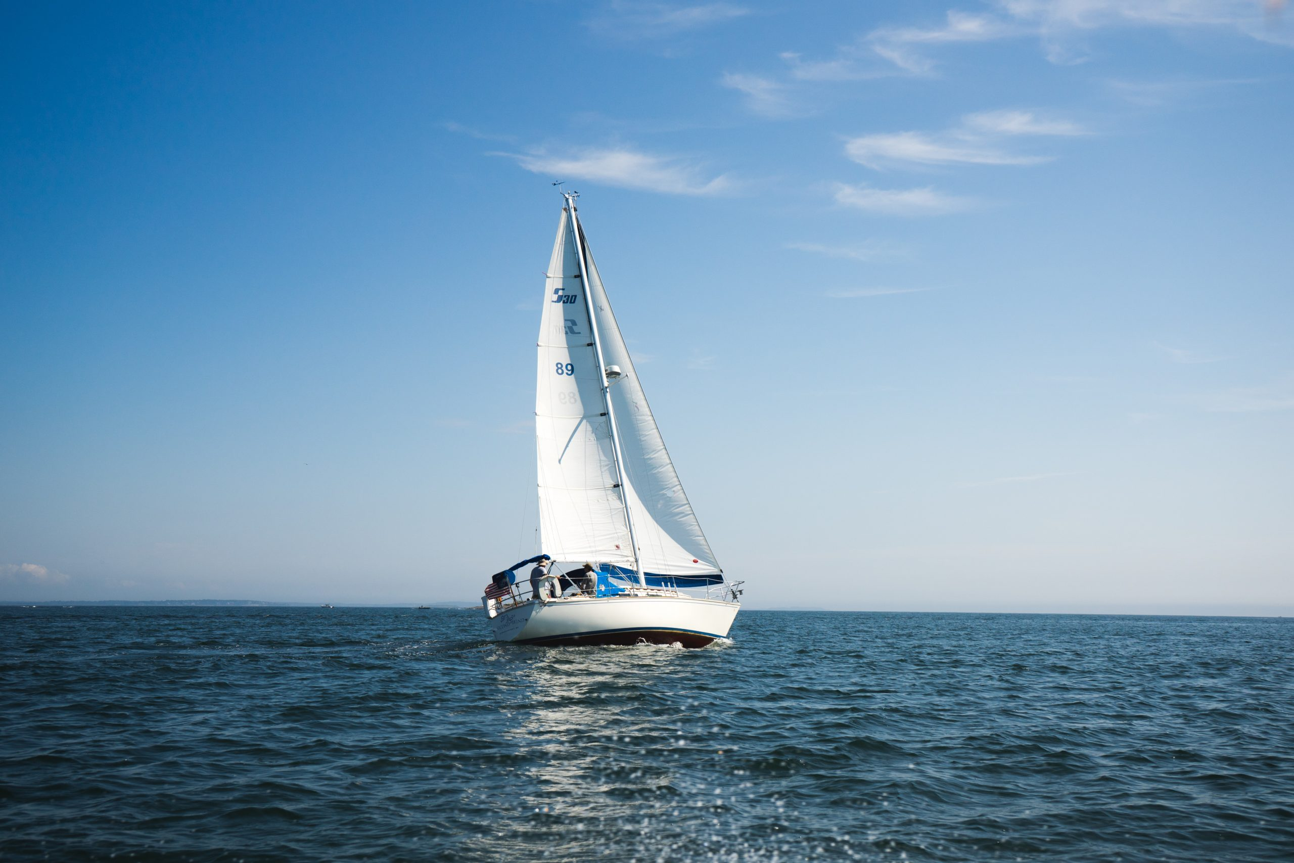 Sailboat in the middle of water