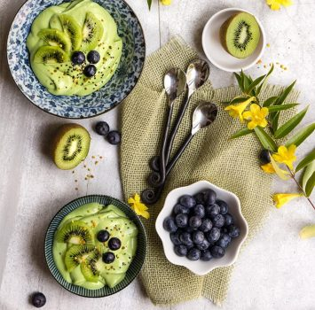 vegan GREEN PINA COLADA BREAKFAST BOWL