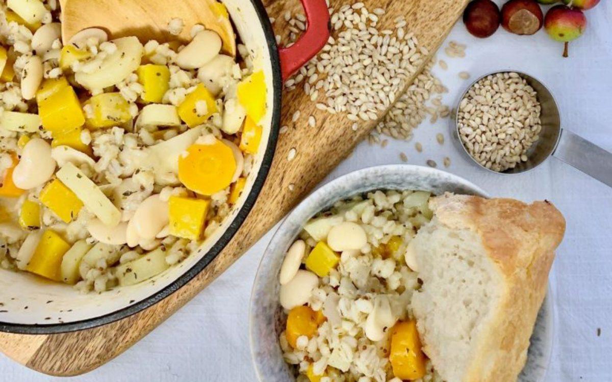 Butterbean & Barley Root Vegetable Stew