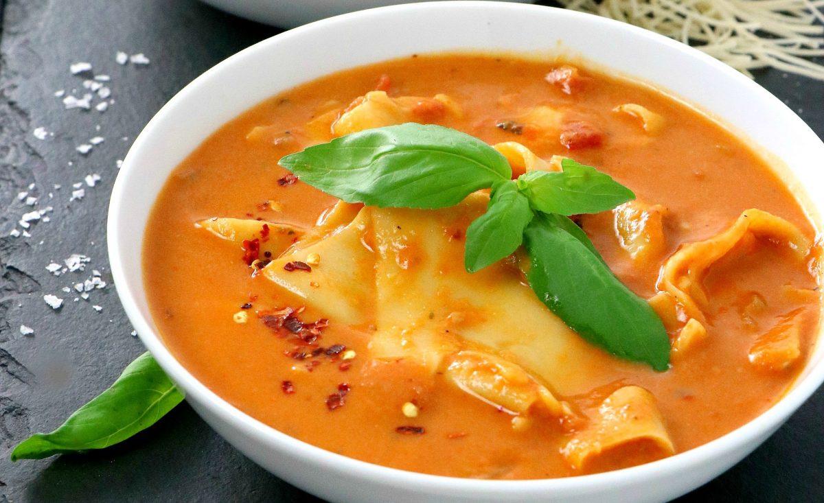 Lasagna Soup with Cashew Cream