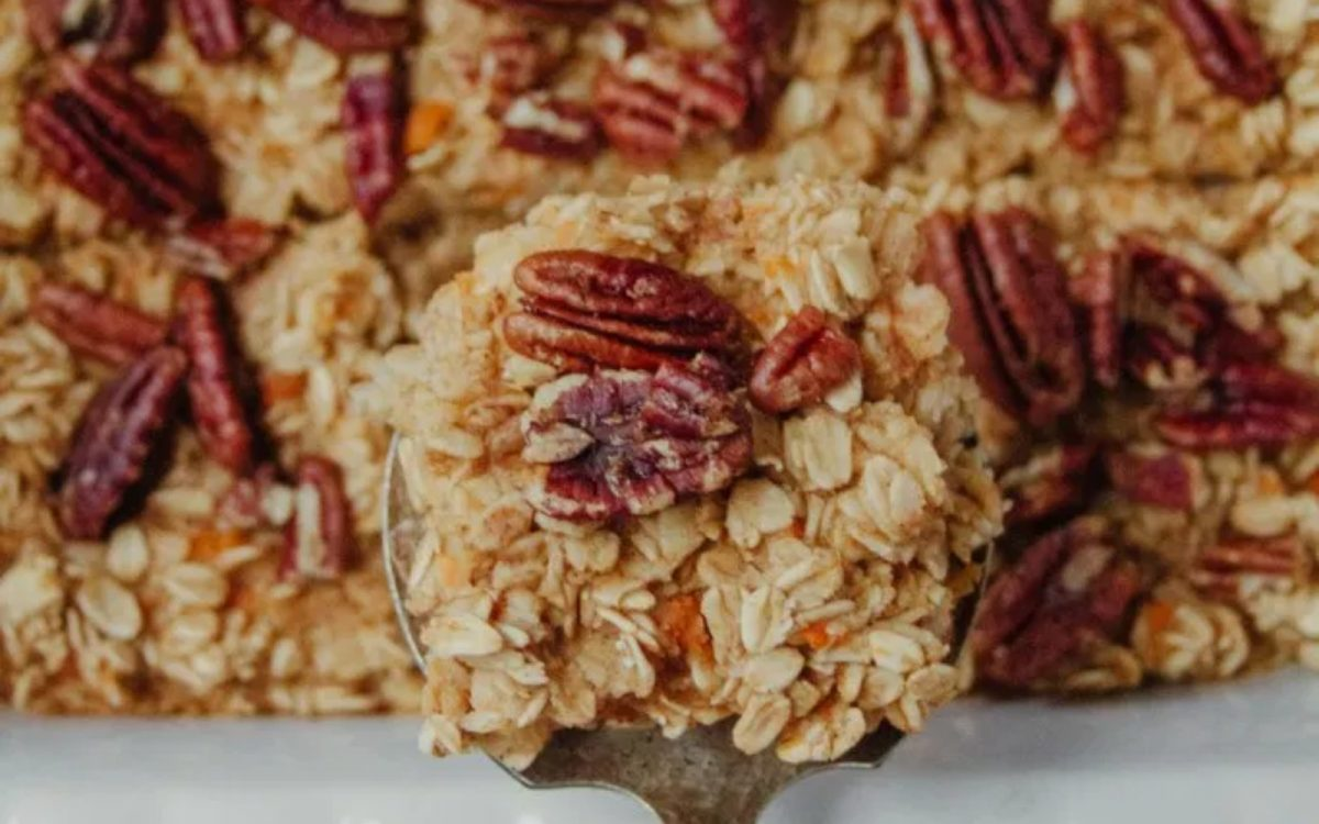 Sweet Potato Pecan Baked Oatmeal vegan
