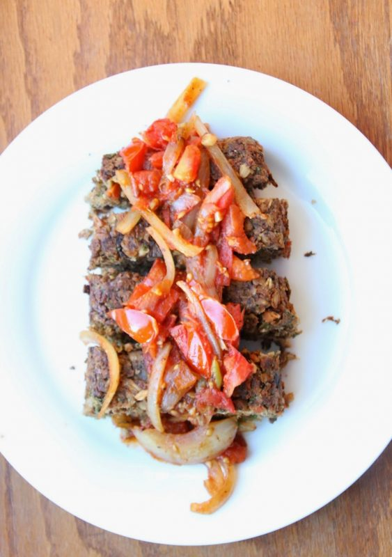 Mushroom Nut Loaf with Balsamic Tomato Chutney
