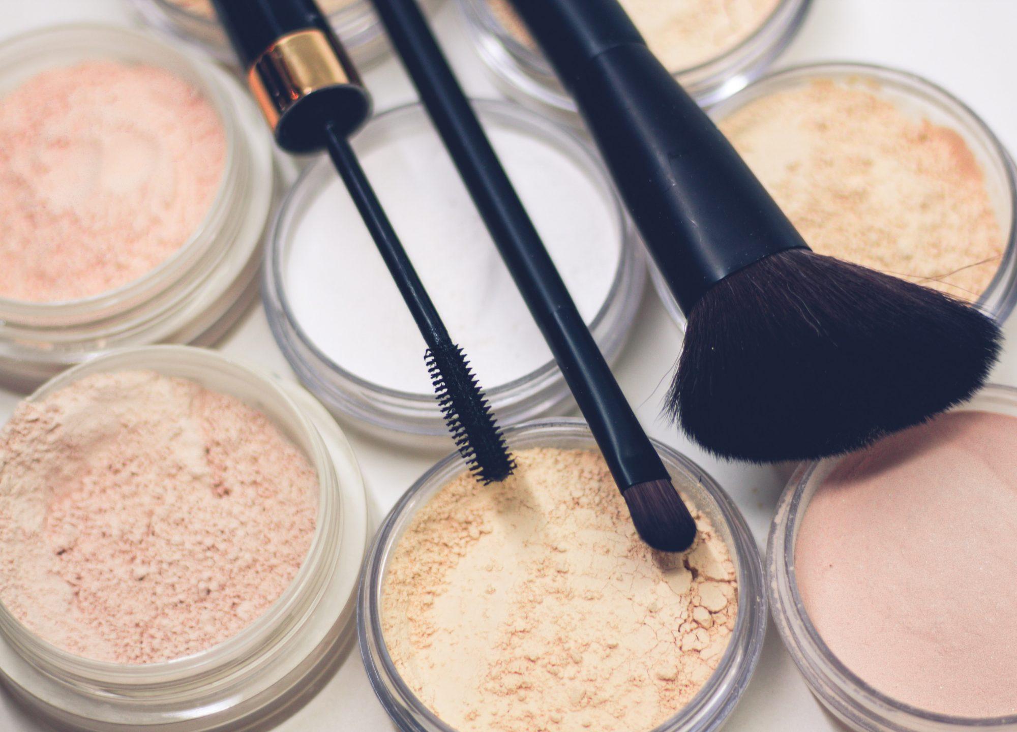 Makeup Brush Over Powders