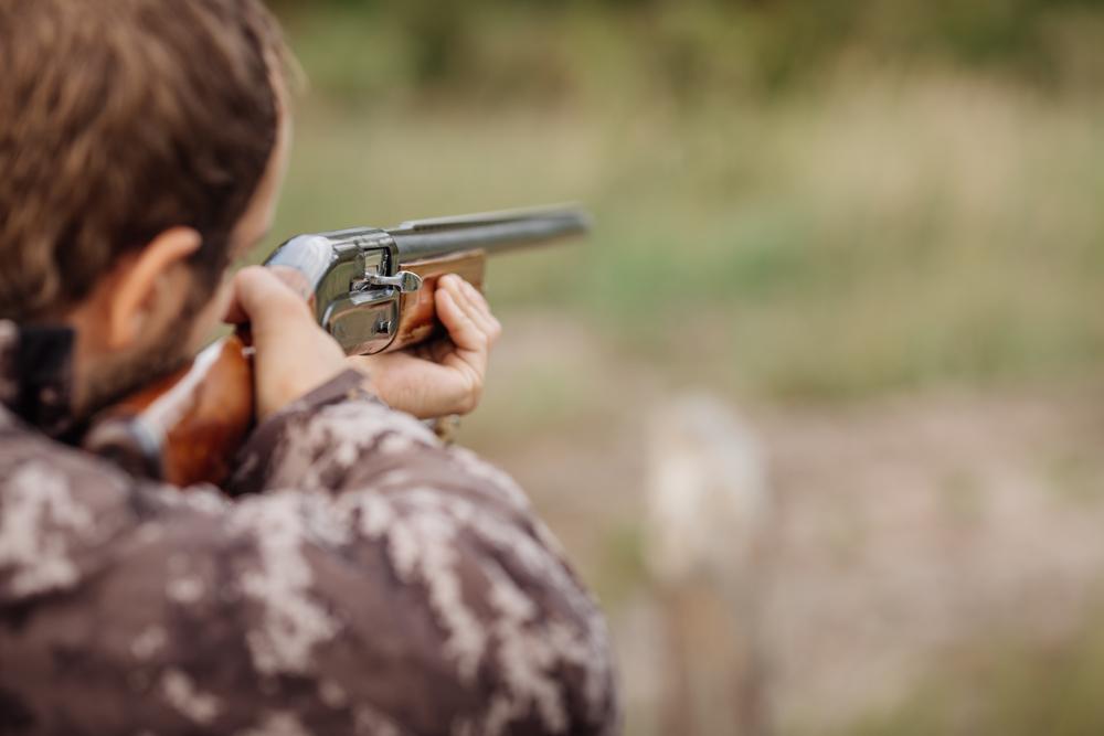 hunter shooting an innocent animal