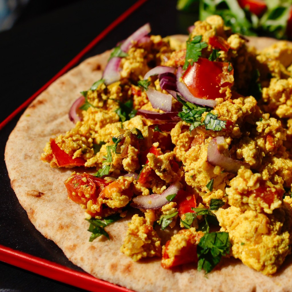 Vegan Spicy Indian Scrambled Tofu