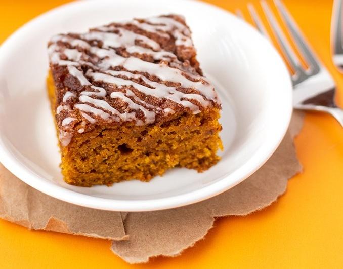 vegan pumpkin spice squares
