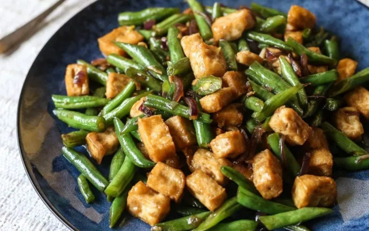 Tofu Green Bean Stir Fry