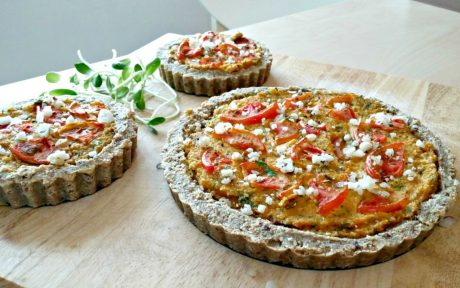 Tomato & Parsley vegan Quiche