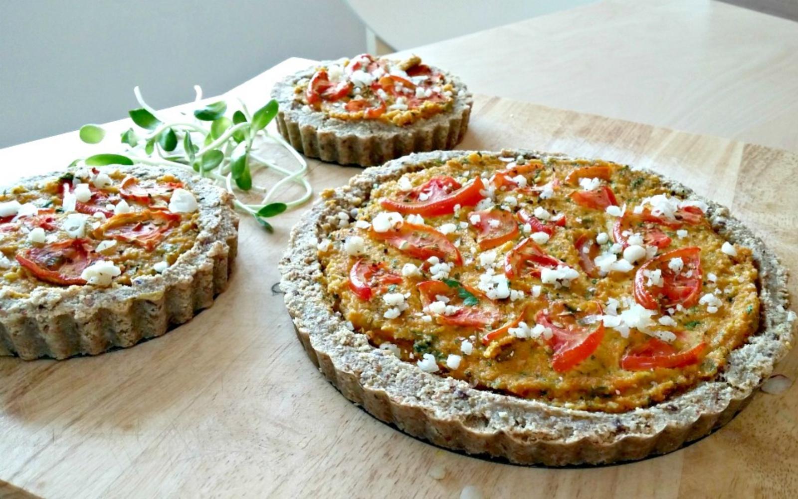 Tomato & Parsley vegan Quiche