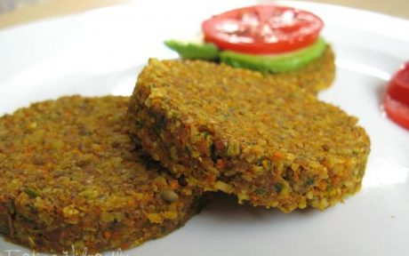 raw veggie burger