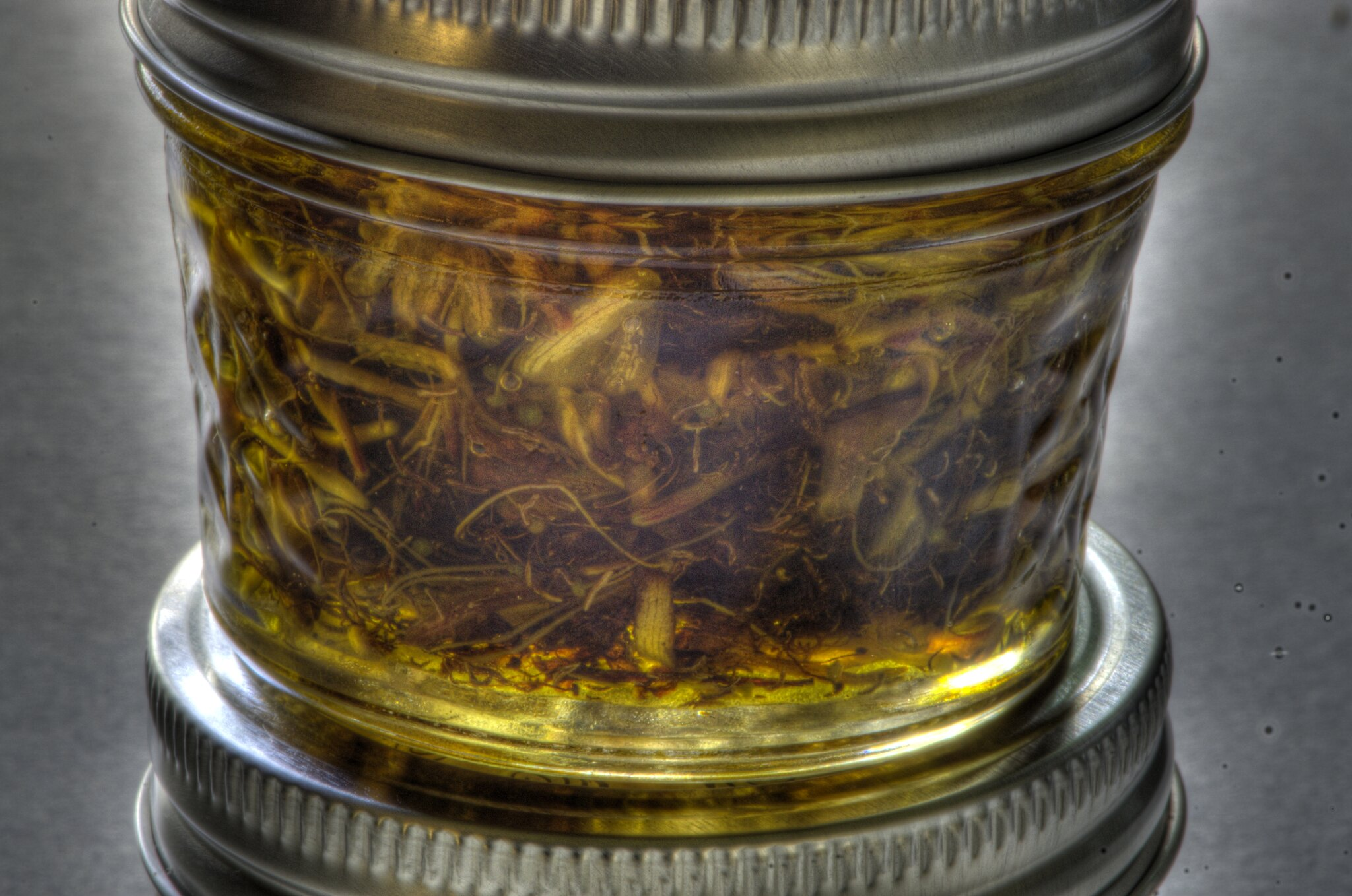 Infusion in a small jar
