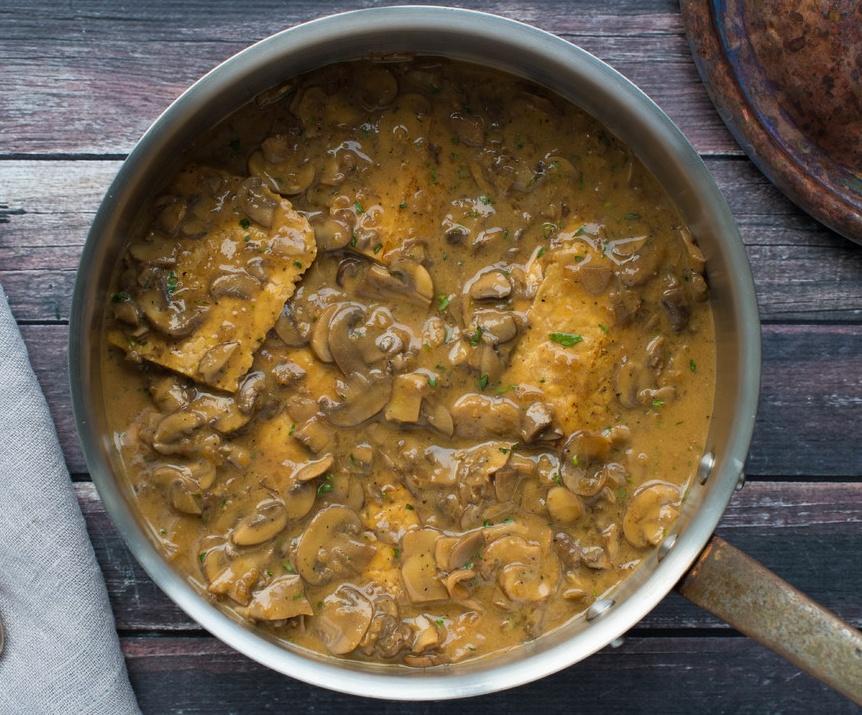 Vegan Mushroom Tarragon Braised Tempeh healing vegan meals