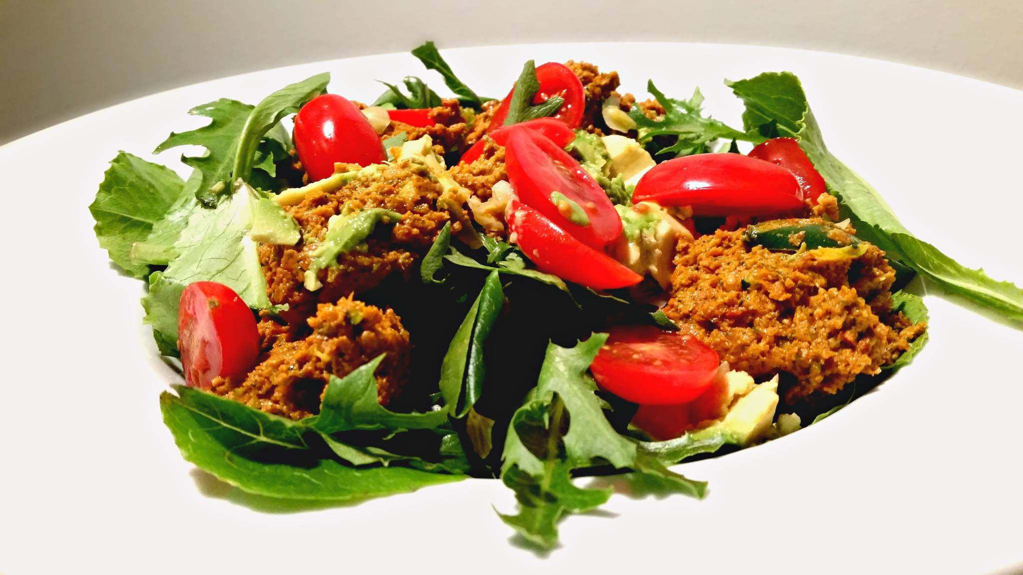 vegan oil free taco salad
