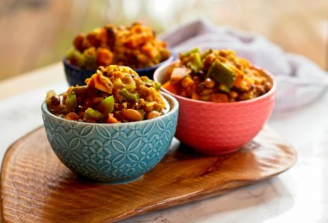vegan hearty pumpkin chili