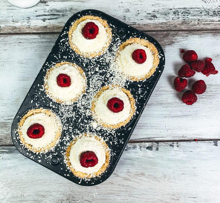 raspberry white chocolate tarts