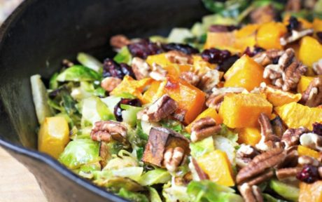 shredded brussels sprouts and butternut squash