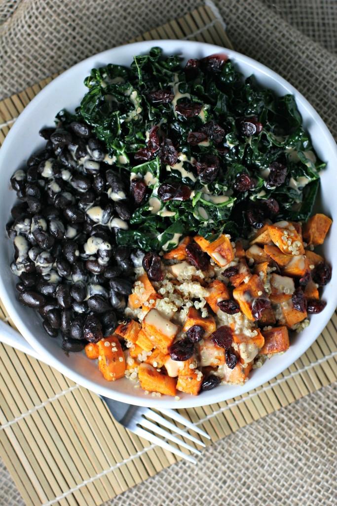 Vegan Kale Salad Balance Bowl