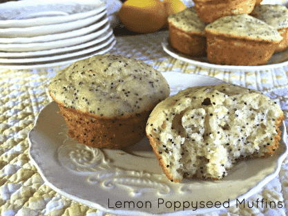 lemon poppy seed muffins vegan
