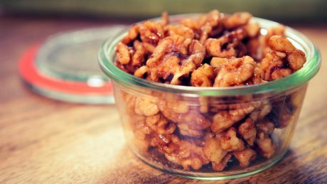 Vegan Maple Chipotle Candied Walnuts