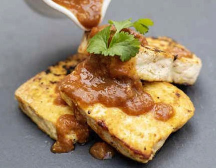 Rhubarb-marinated Tofu Steaks Vegan