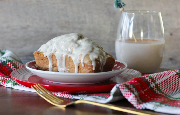 vegan eggnog bread