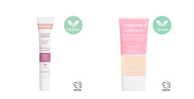 Clean Fresh, vegan and cruelty-free CoverGirl makeup line
