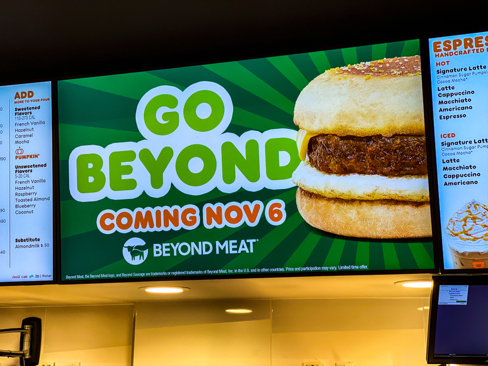 Beyond Meat at Dunkin