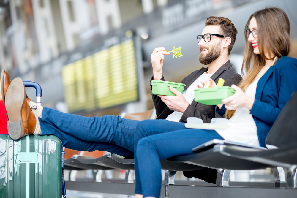 finding vegan options at busy airports