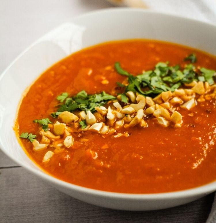 sweet potato and red pepper soup