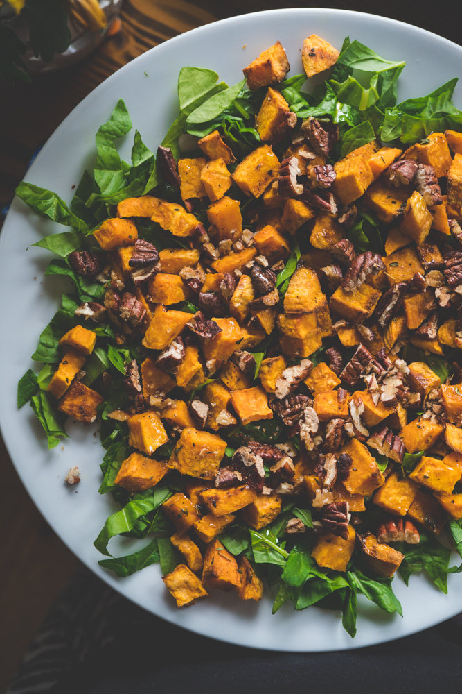 Vegan Roasted Sweet Potato Salad