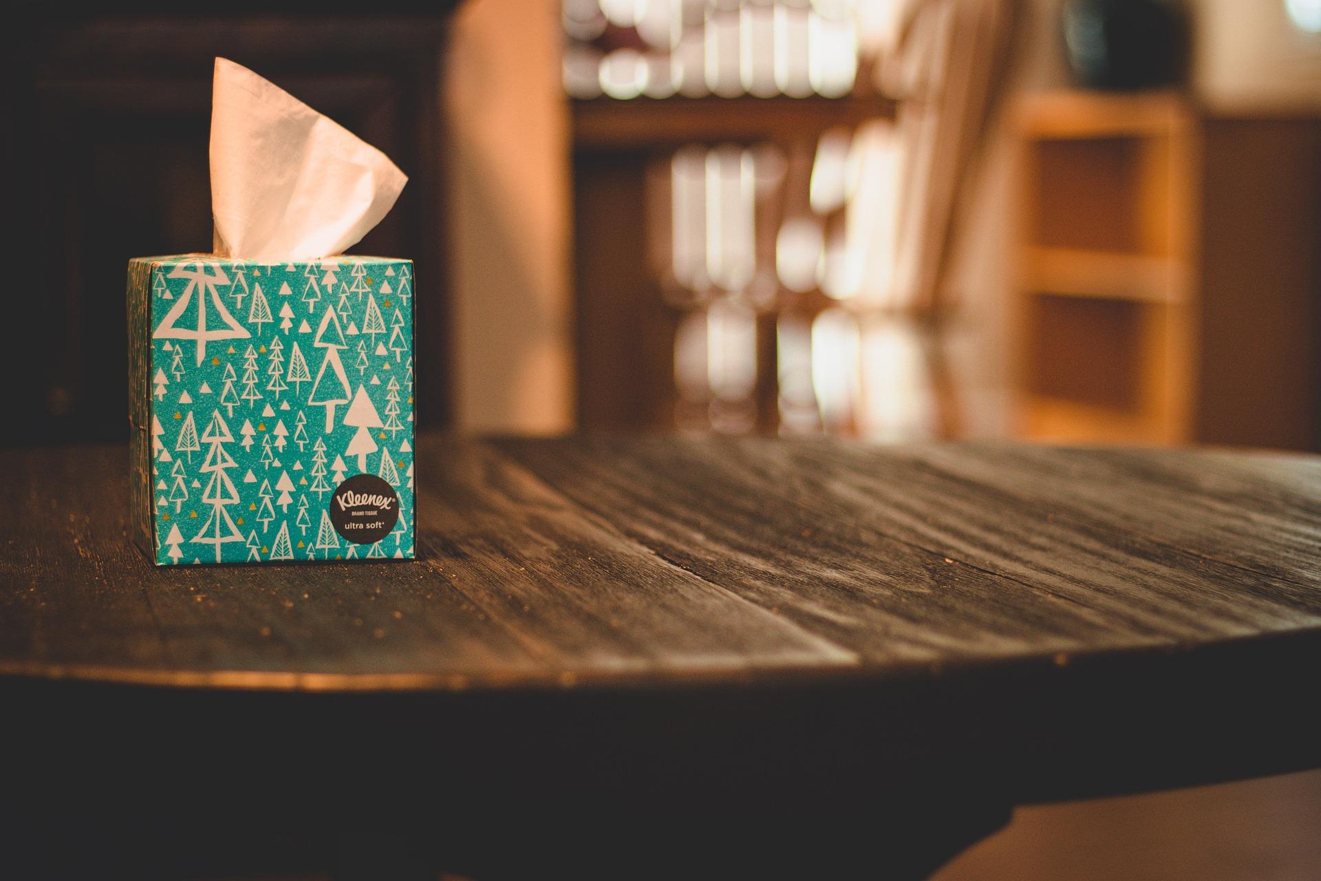 tissue box for mucus and phlegm