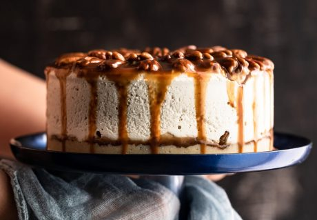 Salted Caramel and Pecan Cheesecake