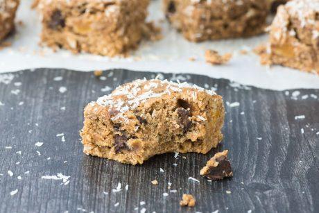 vegan dark chocolate cookie bars