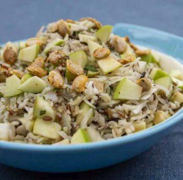 wild rice and sauerkraut salad