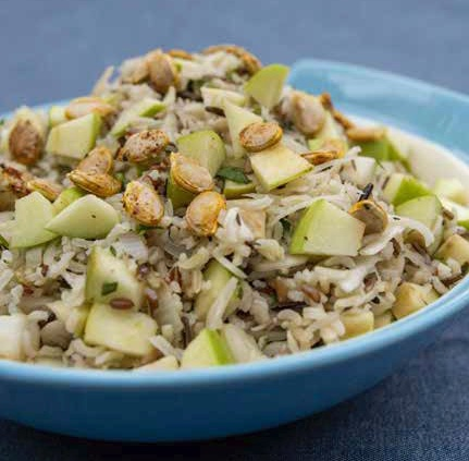 Vegan Wild Rice and Sauerkraut Salad