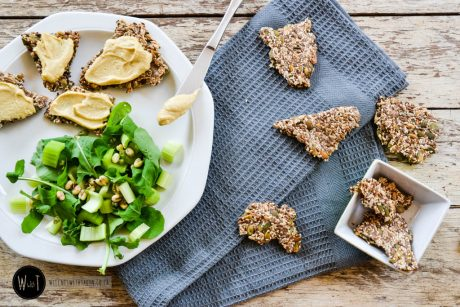 vegan gluten free seed crackers