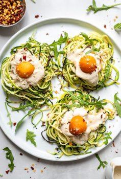 vegan Zucchini Vegan Egg Nests