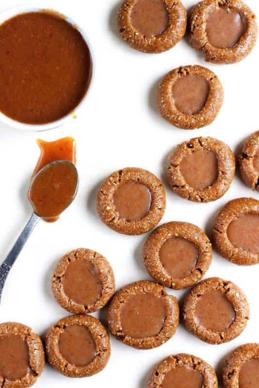 Vegan Caramel Thumbprint Cookies