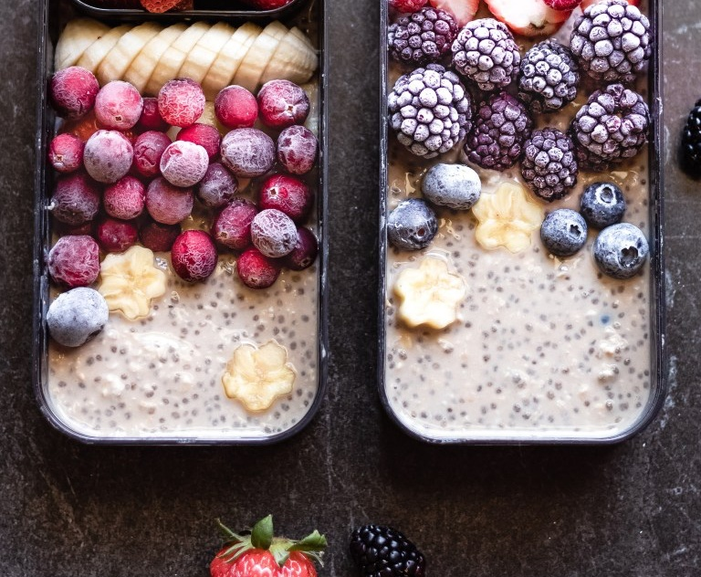 Vegan Coffee Chia Overnight Oats
