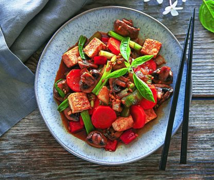 Vegan Ginger Tofu